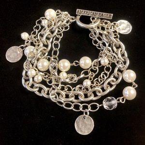 5/$25 American Eagle Multi-Strand Pearl Bracelet